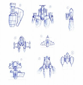 Player Ship Sketches