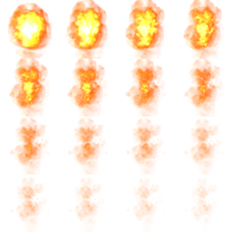 transparent explosion sprite sheet from cliffski's explosion generator
