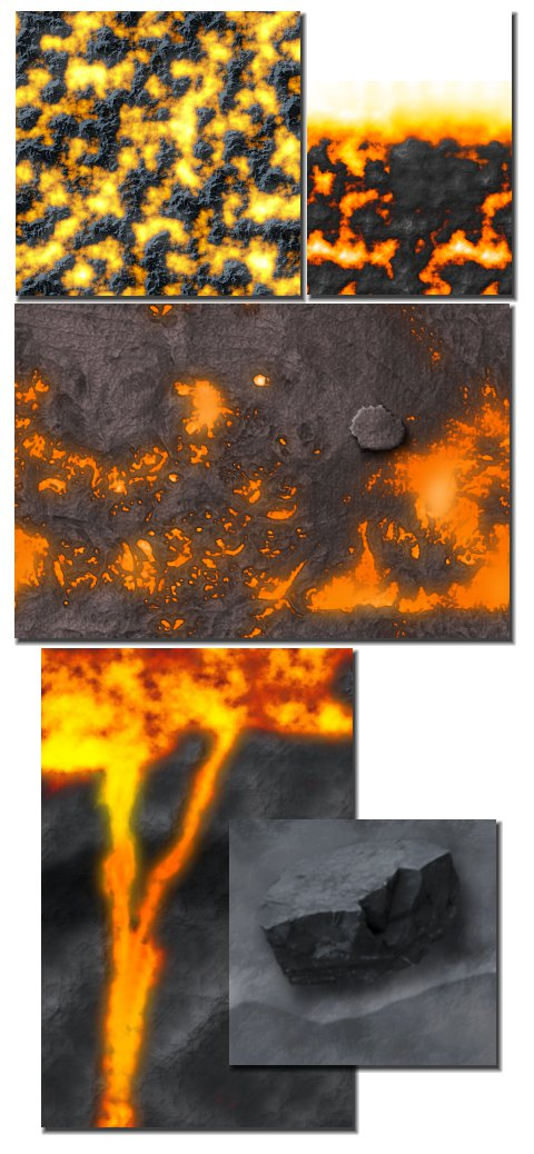 lava experiment collage